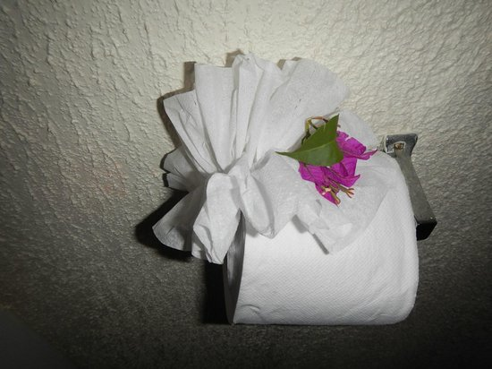 Turtle Beach by Rex Resorts: Lovely touches by housekeeping staff..