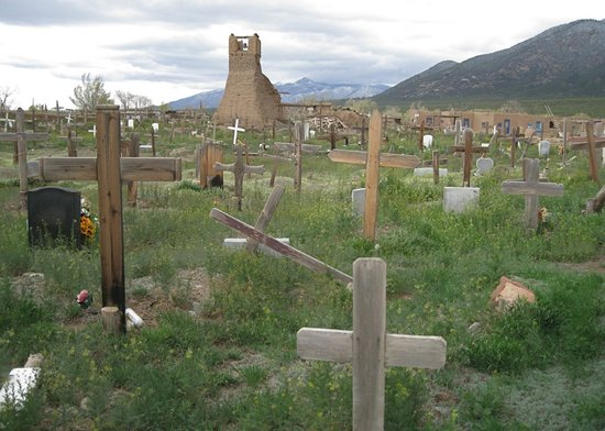 Taos Pueblo: Cemetary next to the San Geronimo Mission.