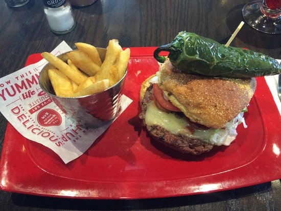 Burnin Love Burger - Picture of Red Robin Gourmet Burgers, Coeur d ...