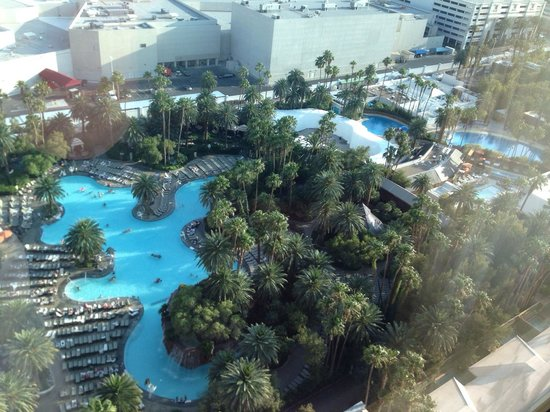 Pool view from room 25 107 picture of the mirage hotel for Nspi pool show vegas