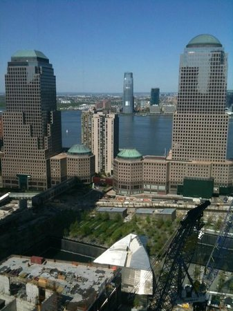 Millennium Hilton New York Downtown: Footprints of the Twin Towers at 9/11 Memorial Park.