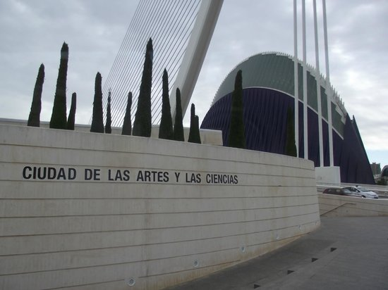 Tryp Valencia Oceanic Hotel: Vista da entrada da Cidade das Artes e das Ciências