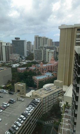 The Imperial Hawaii Resort at Waikiki: Looking out at the city from Resort