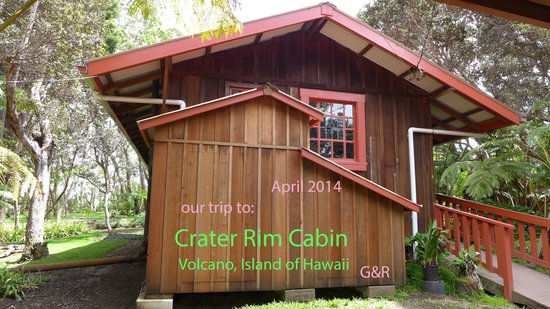 Crater Rim Cabin: view of cabin