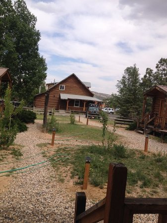 Escalante Outfitters, Inc -- The Bunkhouse : Looking from our cabin to the main store.