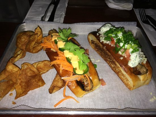 Destination Dogs: Vietnamese Sausage Left and Kansas Sausage Right