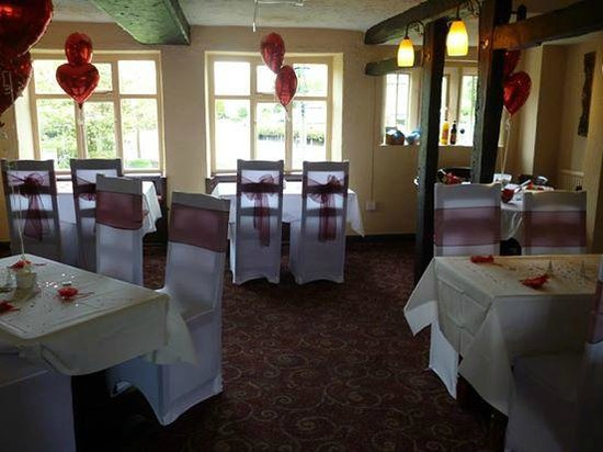 Manor Farm: The Restaurant set for a wedding