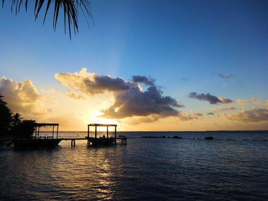 Pension Poerani Nui : Coucher de soleil