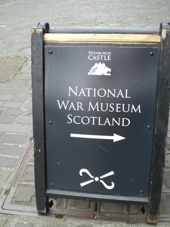 National War Museum of Scotland: Sign for the Museum