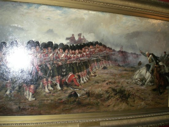 National War Museum of Scotland: Painting showing the battle