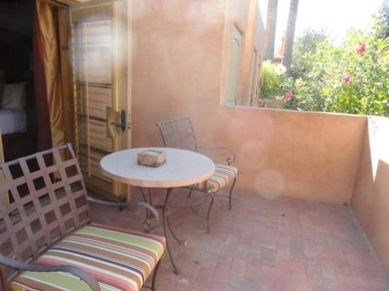 Royal Palms Resort and Spa: I loved working on my patio!