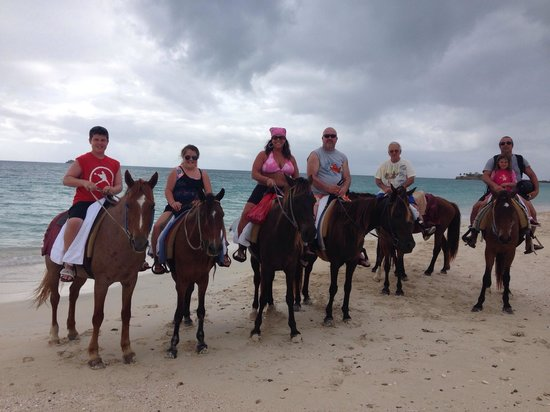 Pineapple Beach Club Antigua: Beautiful day on the beach with the Horses..