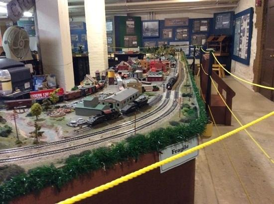 Castle Museum: choo choo- model railway in basement