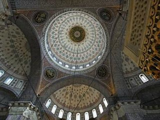 Yeni Cami: The softly decorated domes