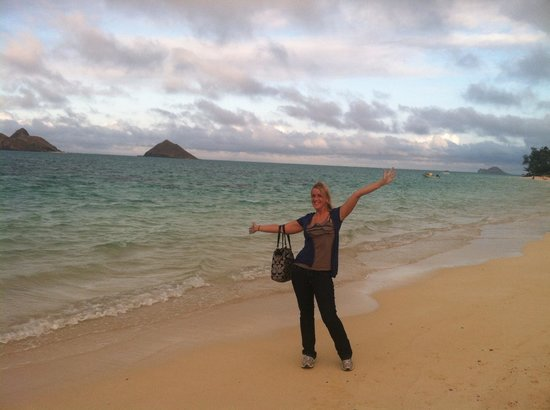 Lanikai Beach : Happy to be here after 13 hour flight!!