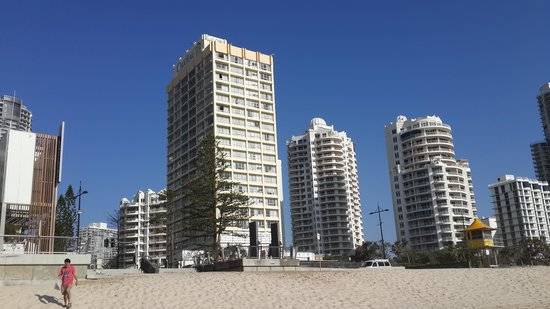 Chateau Beachside: The hotel view from the beach