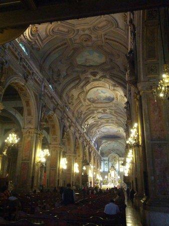 Catedral Metropolitana de Santiago: vista interna