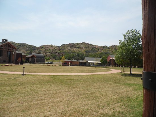 Quartz Mountain Resort Arts & Conference Center: This is the view of the resort from one of the trails