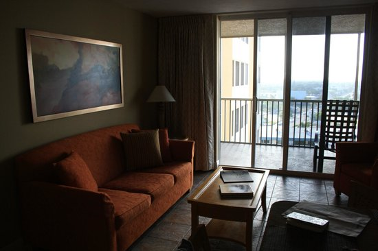 DiamondHead Beach Resort: the living room area of our suite