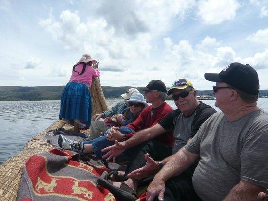 Titilaka: The Totora Reeds Long Boat ride