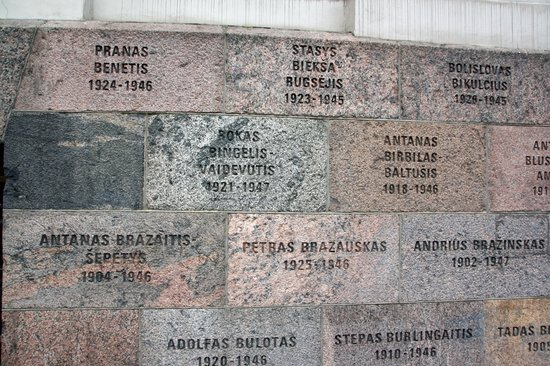 KGB Museum (Genocido Auku Muziejus): Some of the victims on wall of KGB Museum