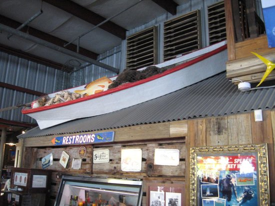 Conch Republic Seafood: Nautical decor at entrance