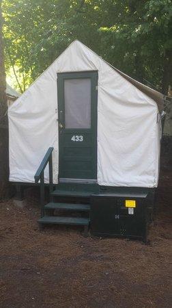 Half Dome Village: Exterior of Tent Cabin