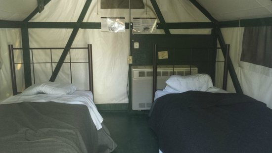 Half Dome Village Interior of two bed heated tent & Interior of two bed heated tent - Picture of Half Dome Village ...
