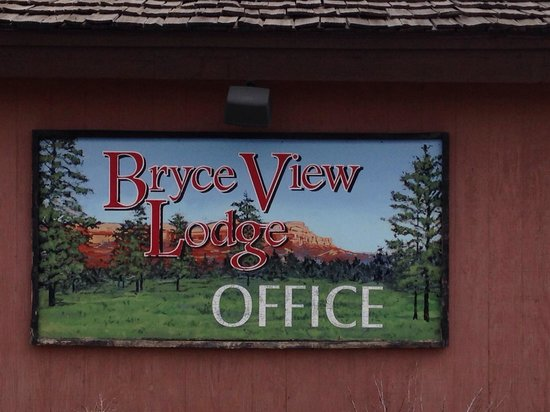 Bryce View Lodge: Reception