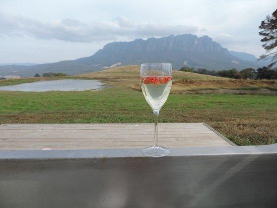 Eagles Nest Retreat: view from milk vat bath