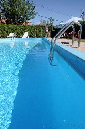 Hotellerie Jardins de ville: Cool down by the pool!  Rafraîchissez-vous au bord de la piscine!