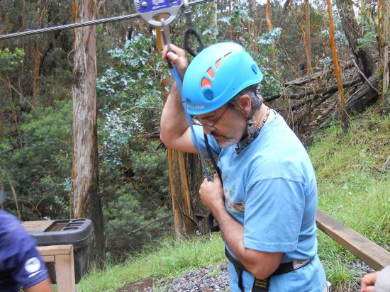 Skyline Eco-Adventures Zipline Tours: Taking the first step.