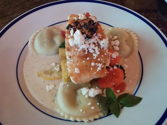 River City Grill : Mustard Crusted Halibut