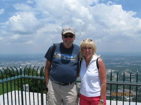 The Lookout Mountain Incline Railway: Top of Lookout Peak over looing Chattanooga.