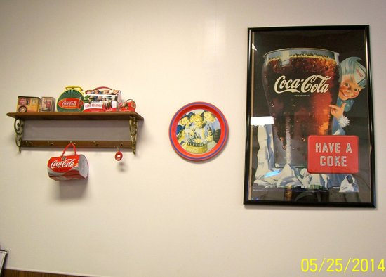 Main Cafe: Coke Decorations