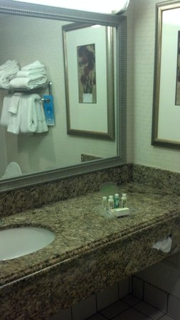 Holiday Inn Resort Galveston-On The Beach: Bathroom sink area