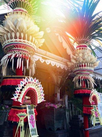 Hotel Kumala Pantai : Penjor everywhere at Galungan - my favourite time in Bali