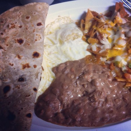 Grapevine Cafe & Coffeehouse: Chilaquiles. Homemade tortillas.