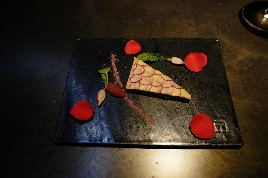 Takazawa: Foie gras looking like a slice of carp