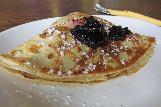 Blueberry cottage cheese pancake - Bild från Kompressor, Tallinn ...