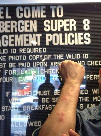 Super 8 North Bergen NJ/NYC Area: Bed bug bites got from room 118 super 8 north bergen.