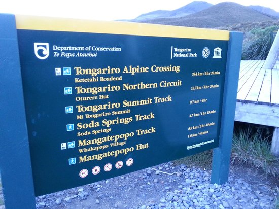 Parque nacional de Tongariro, Nueva Zelanda: Starting point.