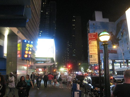 Hilton Times Square : In front of 42nd St entrance
