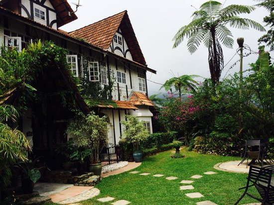 Jim Thompson's Tea Room at Bala's : Front view of the garden