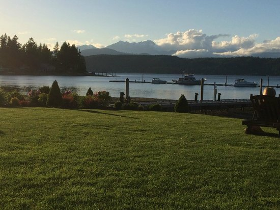 Alderbrook Resort & Spa: Olympic mountains and Hood Canal