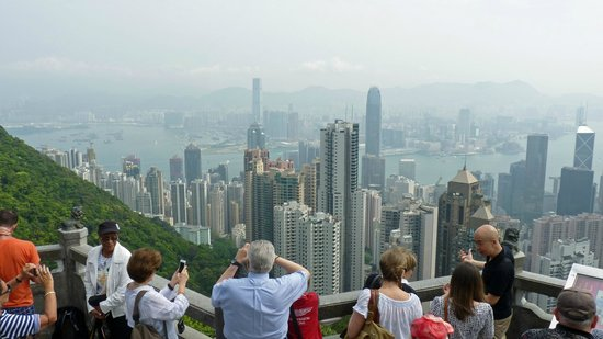 Metropark Park Hotel Kowloon: view from Victoria Peak
