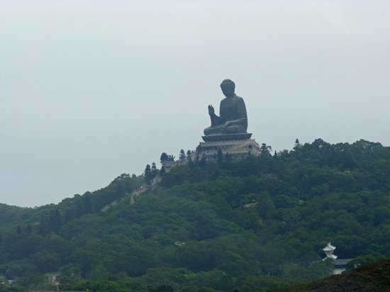 Metropark Hotel Kowloon: View of The Buddah taken from Ngong Ping Cable car