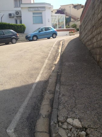 Els Llorers: the last very steep part of the hill