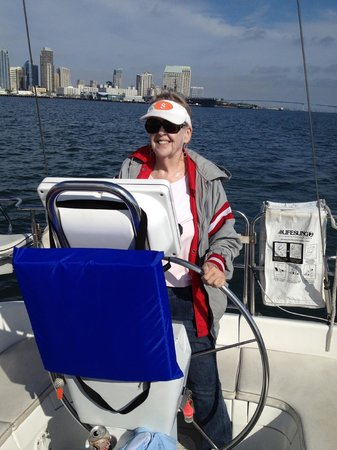 Seaforth Boat Rental &Tours: My mother getting her time at the helm.