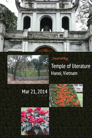Temple de la Littérature de Hanoï : neatly garden